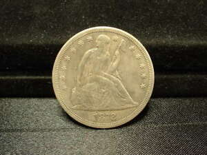 1872 S LIBERTY SEATED DOLLAR  LY  COIN  9 000 MINTED  PROBLEM FREE