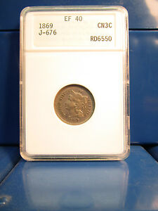 Click now to see the BUY IT NOW Price! 1869 3 CENT PATTERN NICKEL 3N3C J 676 EF40 NGC