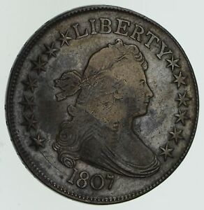 1807 DRAPED BUST HALF DOLLAR   CIRCULATED  4584