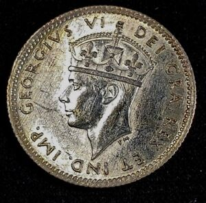 Click now to see the BUY IT NOW Price! 1941 C NEW FOUNDLAND 5 CENTS .925 SILVER COIN
