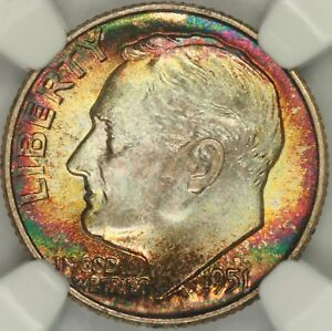 Click now to see the BUY IT NOW Price! 1951 ROOSEVELT DIME NGC MS68FT