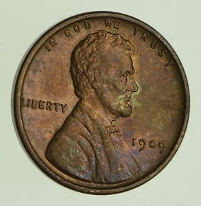 1909 V.D.B. LINCOLN WHEAT CENT   CIRCULATED  1096
