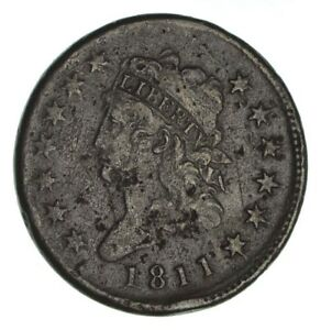 1811 CLASSIC HEAD LARGE CENT   CIRCULATED  1253