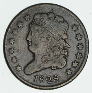 1828 CLASSIC HEAD HALF CENT   CIRCULATED  6363