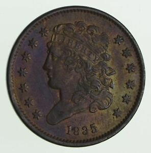 1835 CLASSIC HEAD HALF CENT   CIRCULATED  7544
