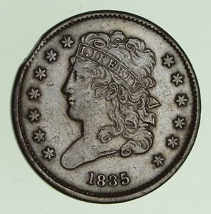 1835 CLASSIC HEAD HALF CENT   CIRCULATED  7416