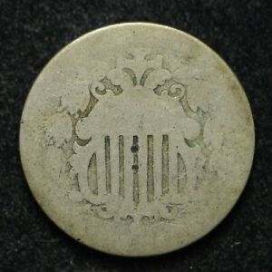 SHIELD NICKEL WITH RAY'S DATE UNREADABLE  BB1729