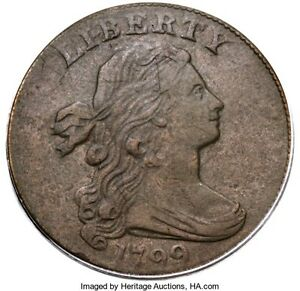 1799 DRAPED BUST LARGE CENT PCGS GRADED VF DETAILS GREAT DATE HAIR & DETAILS
