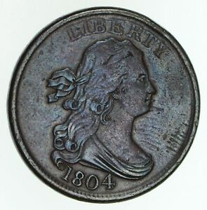 1804 DRAPED BUST HALF CENT   CIRCULATED  4799