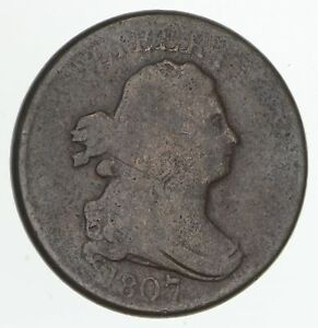 1807 DRAPED BUST HALF CENT   CIRCULATED  4182