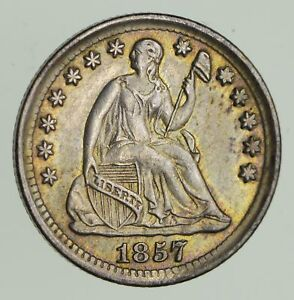 1857 SEATED LIBERTY HALF DIME   CIRCULATED  9642