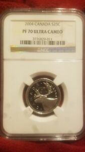 Click now to see the BUY IT NOW Price! 2004 SILVER CANADA 25C QUARTER NGC PF70UCAM ABSOLUTELY AMAZING LY
