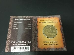 2008 DOLLAR RAM $1 UNC   COAT OF ARMS S PRIVYMARK  MINTMARK