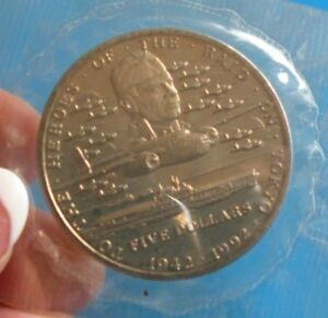 MARSHALL ISLANDS 1992 5 DOLLARS   HEROES OF RAID ON TOKYO COMMEMORATIVE G 9