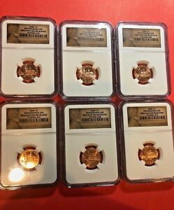 LOT OF SIX 2009 LINCOLN CENT   PROFESSIONAL LIFE   NGC BRILLIANT UNCIRCULATED