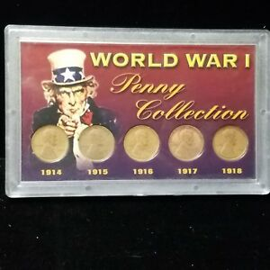 WORLD WAR 1 PENNY COLLECTION 1914  1918  OTB0056