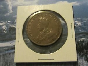 1917 COMMONWEALTH OF AUSTRALIA KING GEORGE V ONE PENNY. FINE CONDITION.