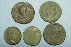 Click now to see the BUY IT NOW Price! FIVE FOURTH CENTURY ROMAN BRONZE COINS