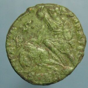 Click now to see the BUY IT NOW Price! SHARP CONSTANTIUS II FEL TEMP REPARATIO CENTENIONALIS    BEAUTIFUL GREEN PATINA