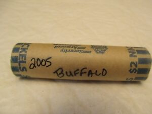1 ROLL UNCIRCULATED JEFFERSON NICKELS BUFFALO 2005D SAE ROLLED  LOT BB  JU