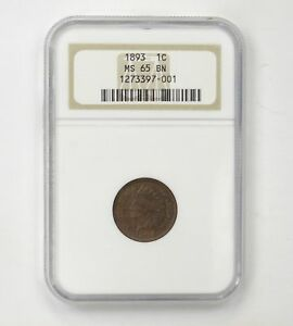MS65BN 1893 INDIAN HEAD CENT   NGC GRADED  4304