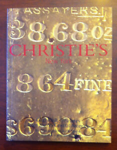 GOLD RUSH TREASURES   SS CENTRAL AMERICA   CHRISTIE'S AUCTION CATALOG 2000 NEW