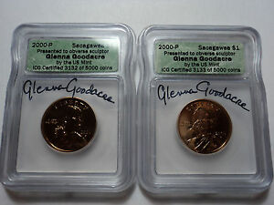 Click now to see the BUY IT NOW Price!  2  2000 P SACAGAWEA   GLENNA GOODACRE DOLLAR SEQUENCE NUMBERS 3132 & 3133 ICG