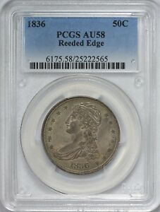Click now to see the BUY IT NOW Price! 1836 CAPPED BUST HALF DOLLAR REEDED EDGE PCGS AU58