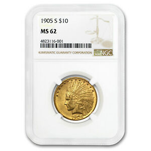 Click now to see the BUY IT NOW Price! 1908 D $10 INDIAN GOLD EAGLE WITH MOTTO AU 58 NGC   SKU175364