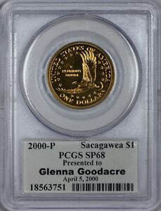 Click now to see the BUY IT NOW Price! 2000 P GOODACRE PRESENTATION PCGS SP68 SACAGAWEA DOLLAR DIEHL SIGNED MS68