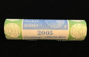 2005 P OCEAN JEFFERSON NICKELS US MINT ROLL OF 40