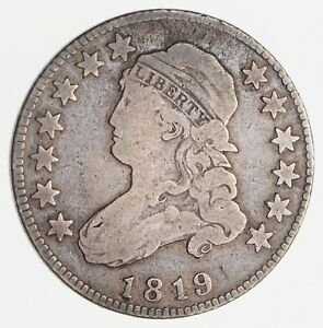 1819 CAPPED BUST QUARTER  CIRCULATED  2489