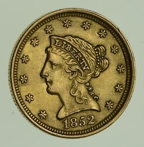 1852 $2.50 LIBERTY HEAD GOLD QUARTER EAGLE   CIRCULATED  1863