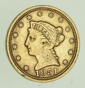 1851 $2.50 LIBERTY HEAD GOLD QUARTER EAGLE   CIRCULATED  4726