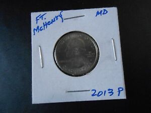 2013 P: FT. MCHENRY AMERICA THE BEAUTIFUL QUARTER  8364 CIRCULATED