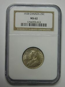 1924 CANADA 5 CENTS COIN NGC GRADED MS 63 1754392 008