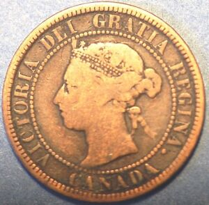 1884 CANADA ONE CENT  VICTORIA QUEEN