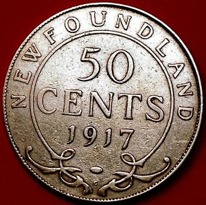 1917 NEWFOUNDLAND.CANADIAN PROVINCES 50 CENTS  EDWARD VII KM 11