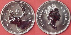 SPECIMEN 1999 CANADA 25 CENTS FROM MINT'S SET