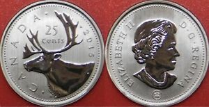 SPECIMEN 2015 CANADA 25 CENTS FROM MINT'S SET