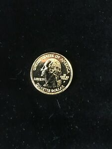 2004 WASHINGTON QUARTER SUPERB LUSTROUS GOLD TONE FLORIDA