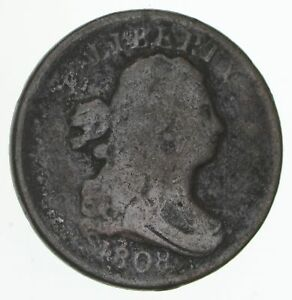 1808 DRAPED BUST HALF CENT   CIRCULATED  4176
