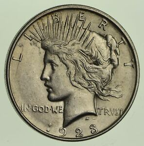 1923 D PEACE SILVER DOLLAR   CHOICE  5745