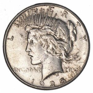 1925 S PEACE SILVER DOLLAR   CIRCULATED  7718
