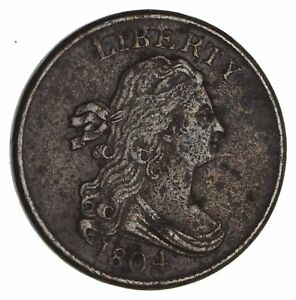 1804 DRAPED BUST HALF CENT  CIRCULATED  1966