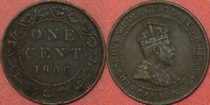 VERY FINE 1906 CANADA LARGE 1 CENT