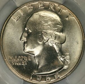 Click now to see the BUY IT NOW Price! 1968 WASHINGTON QUARTER PCGS MS68   TOP POP