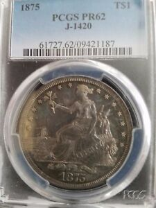 Click now to see the BUY IT NOW Price! 1875 TRADE DOLLAR PCGS PR62 JUDD 1420 POLLACK 1563 HIGH R 7 3RD FINEST KNOWN