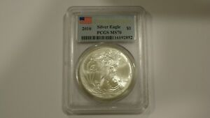 Click now to see the BUY IT NOW Price! 2010 SILVER EAGLE 25TH YEAR OF ISSUE FIRST STRIKE PCGS MS70 LOT OF 20