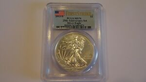 2011 S SILVER EAGLE 25TH ANNIVERSARY SET FIRST STRIKE PCGS MS70